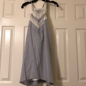 Blue and white striped BCBGeneration dress